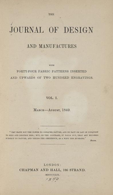 Extrait du premier volume (1849)